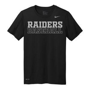 Black Raiders Baseball Nike Legend Tee