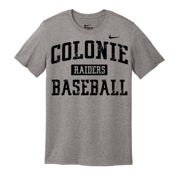 Carbon Heather Colonie Raiders Baseball Nike Legend Tee