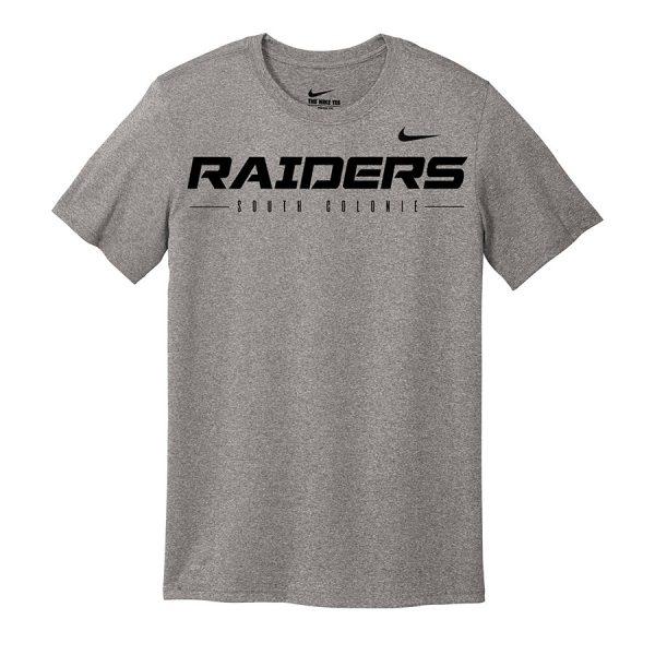 Carbon Heather Raiders South Colonie Nike Legend Tee