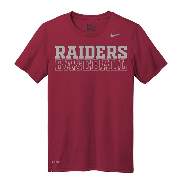 Deep Maroon Raiders Baseball Nike Legend Tee