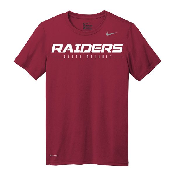 Deep Maroon Raiders South Colonie Nike Legend Tee
