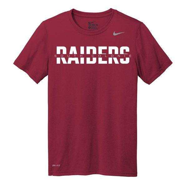Deep Maroon South Colonie Raiders Nike Legend Tee