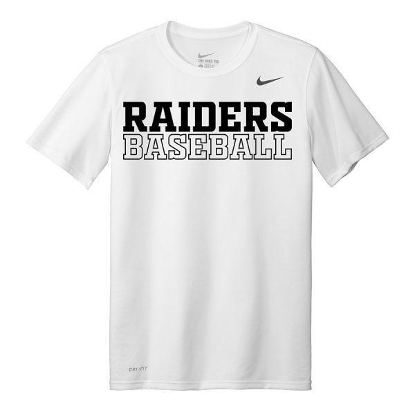 White Raiders Baseball Nike Legend Tee