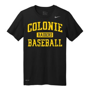 Black Colonie Raiders Baseball Youth Nike Legend Tee