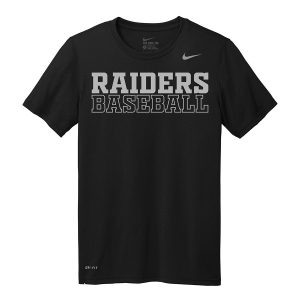 Black Raiders Baseball Youth Nike Legend Tee