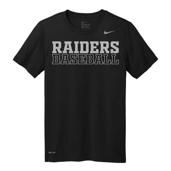 Black Raiders Baseball Youth Nike Legend Tee