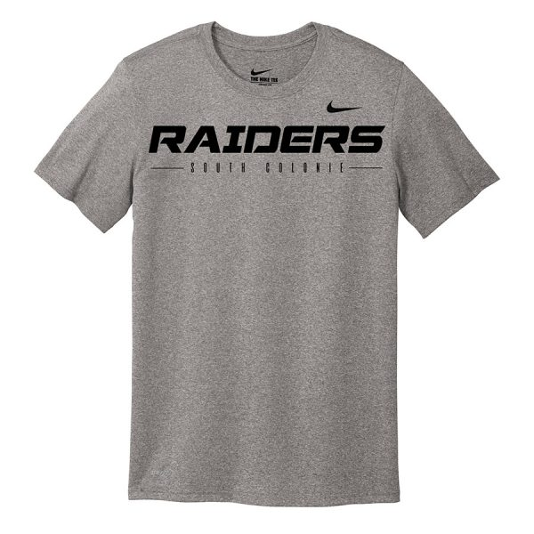 Carbon Heather Raiders South Colonie Youth Nike Legend Tee