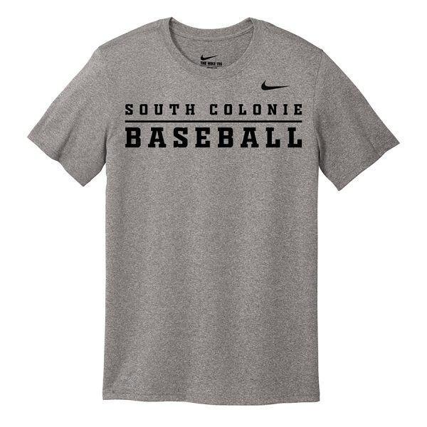 Carbon Heather South Colonie Baseball Youth Nike Legend Tee