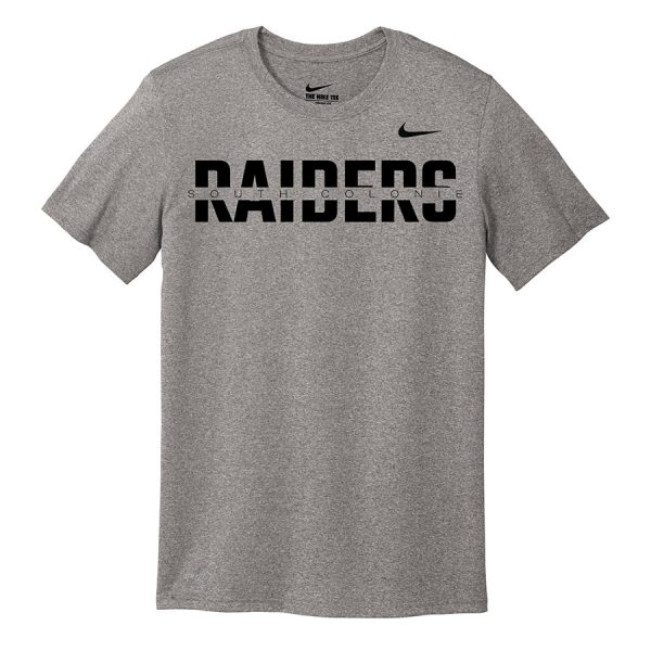 Carbon Heather South Colonie Raiders Youth Nike Legend Tee
