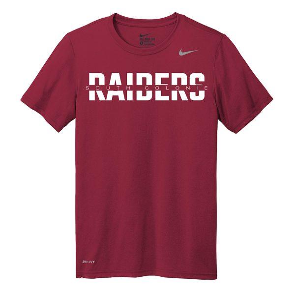 Deep Maroon South Colonie Raiders Youth Nike Legend Tee