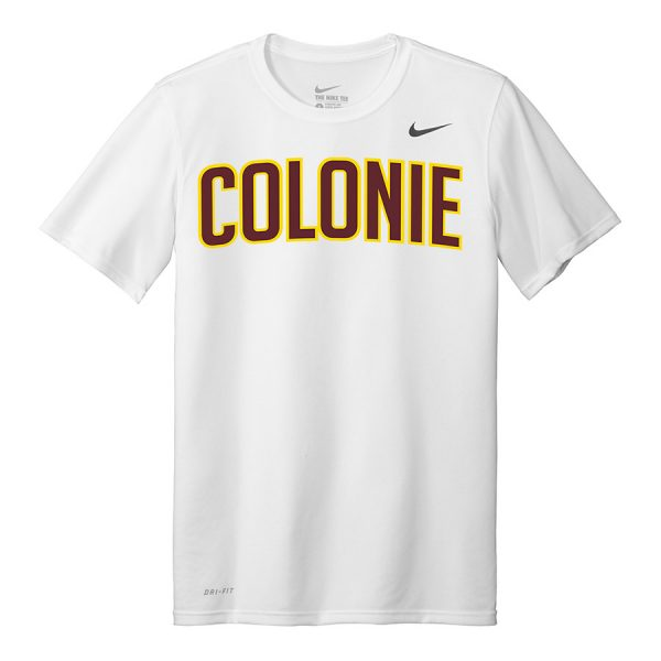 White Colonie Youth Nike Legend Tee