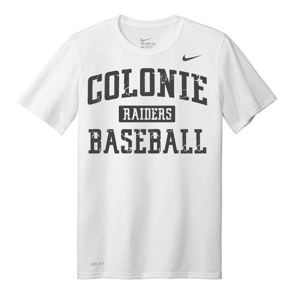 White Colonie Raiders Baseball Youth Nike Legend Tee