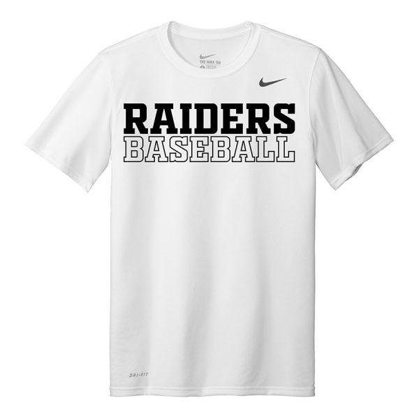 White Raiders Baseball Youth Nike Legend Tee