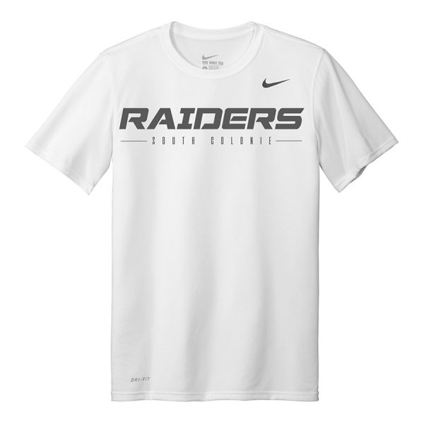 White Raiders South Colonie Youth Nike Legend Tee