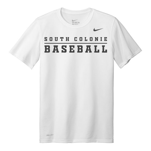 White South Colonie Baseball Youth Nike Legend Tee