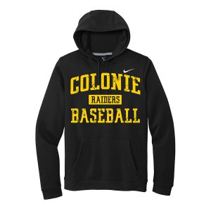 Black Colonie Raiders Baseball Club Fleece Pullover Hoodie