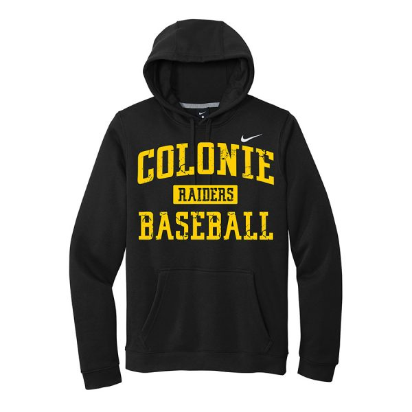 Black Colonie Raiders Baseball Club Fleece Pullover Hoodie