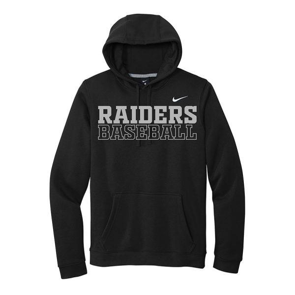Black Raiders Baseball Club Fleece Pullover Hoodie
