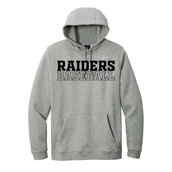 Dark Grey Heather Raiders Baseball Club Fleece Pullover Hoodie