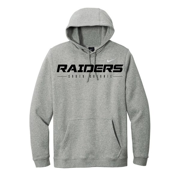 Dark Grey Heather Raiders South Colonie Club Fleece Pullover Hoodie