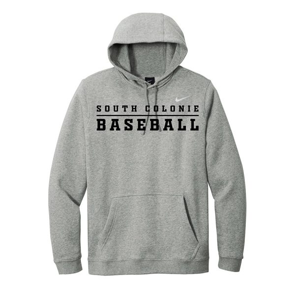 Dark Grey Heather South Colonie Baseball Club Fleece Pullover Hoodie