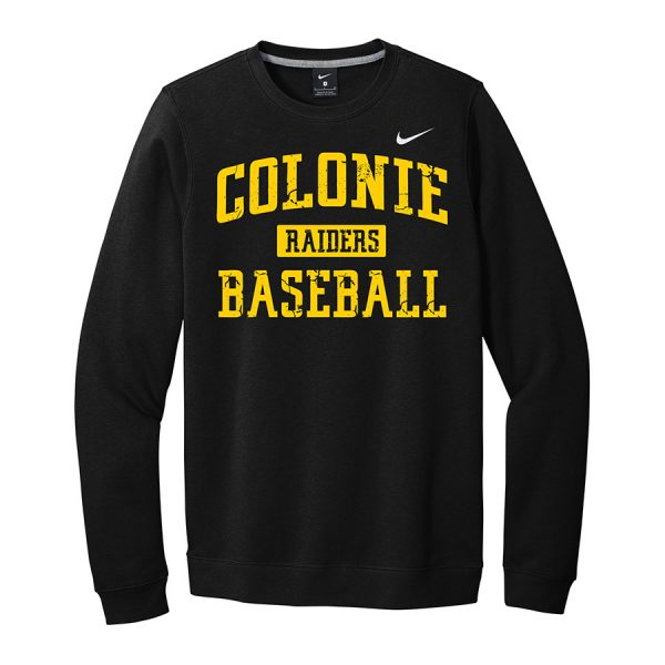 Black/Gold Colonie Raiders Baseball Club Fleece Crew