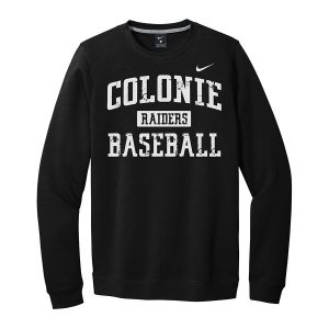 Black/White Colonie Raiders Baseball Club Fleece Crew