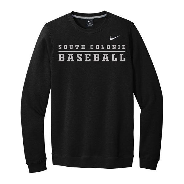 Black South Colonie Baseball Club Fleece Crew
