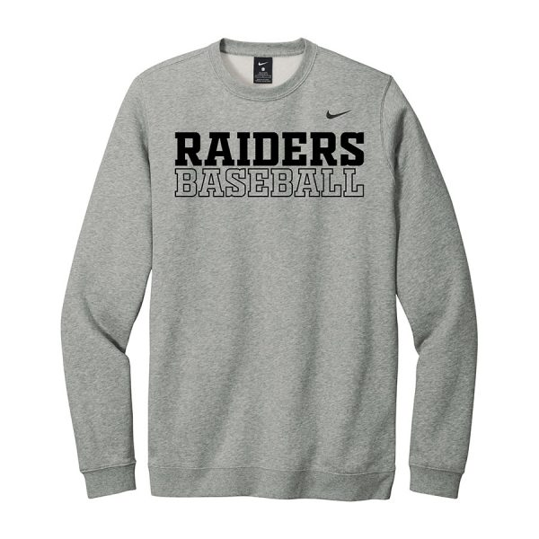 Dark Grey Heather Raiders Baseball Club Fleece Crew