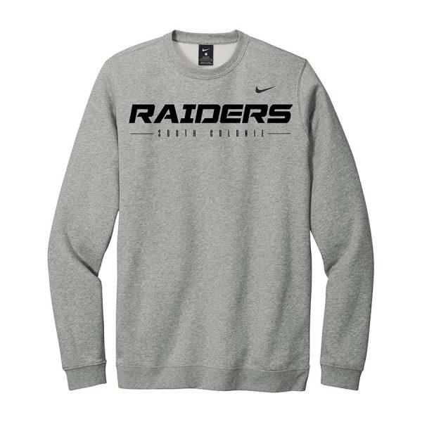 Dark Grey Heather Raiders South Colonie Club Fleece Crew
