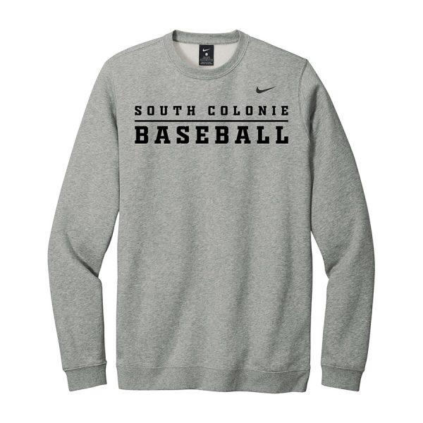 Dark Grey Heather South Colonie Baseball Club Fleece Crew