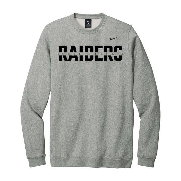 Dark Grey Heather South Colonie Raiders Club Fleece Crew