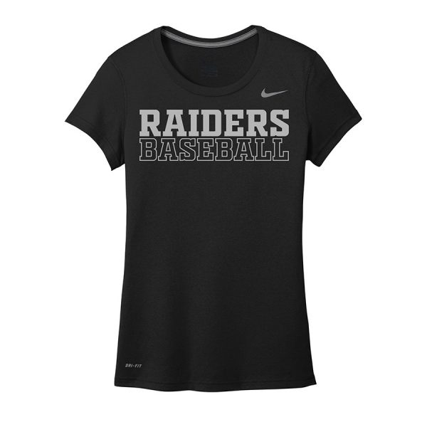 Black Raiders Baseball Ladies Nike Legend Tee