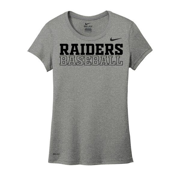 Carbon Heather Raiders Baseball Ladies Nike Legend Tee