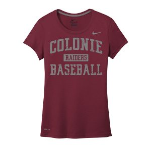 Deep Maroon Colonie Raiders Baseball Ladies Nike Legend Tee