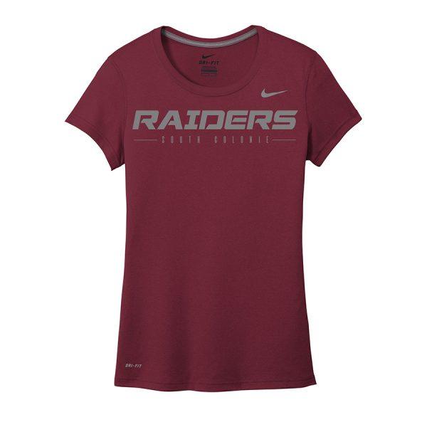 Deep Maroon Raiders South Colonie Ladies Nike Legend Tee