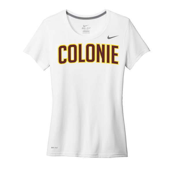 White Colonie Ladies Nike Legend Tee