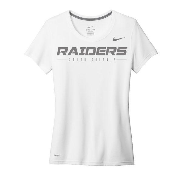 White Raiders South Colonie Ladies Nike Legend Tee