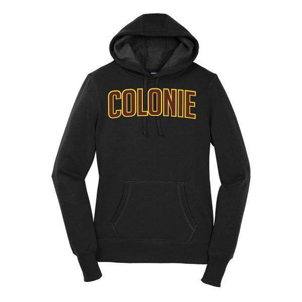 Black Colonie Ladies Sport-Tek Pullover Hooded Sweatshirt