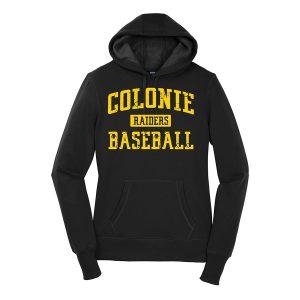 Black Colonie Raiders Baseball Ladies Sport-Tek Pullover Hooded Sweatshirt