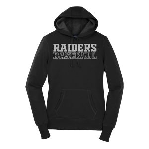 Black Raiders Baseball Ladies Sport-Tek Pullover Hooded Sweatshirt