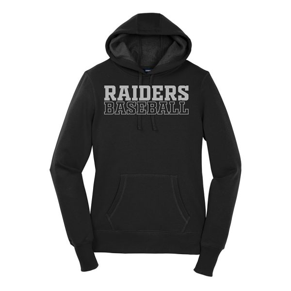 Black Raiders Baseball Ladies Sport-Tek Pullover Hooded Sweatshirt