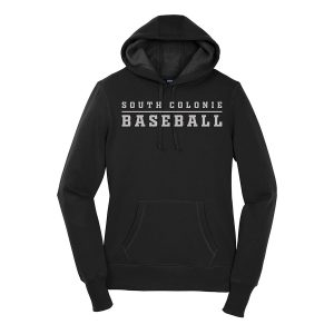 Black South Colonie Baseball Ladies Sport-Tek Pullover Hooded Sweatshirt