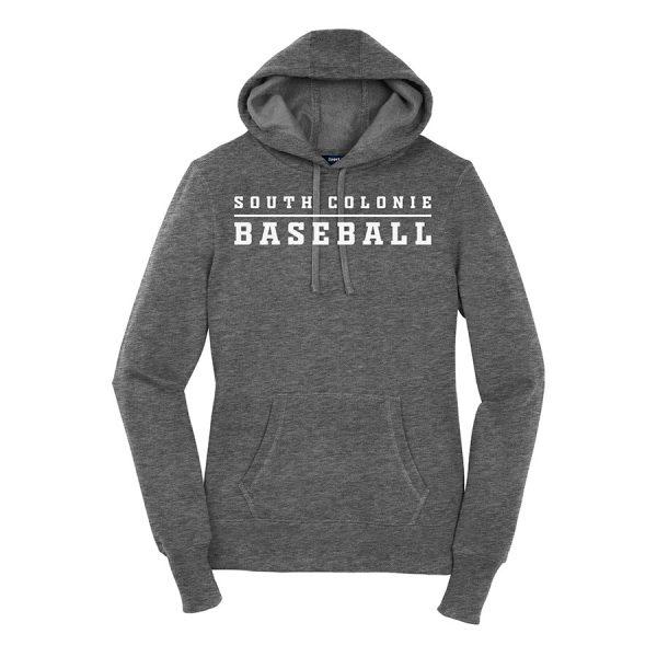 Vintage Heather South Colonie Baseball Ladies Sport-Tek Pullover Hooded Sweatshirt