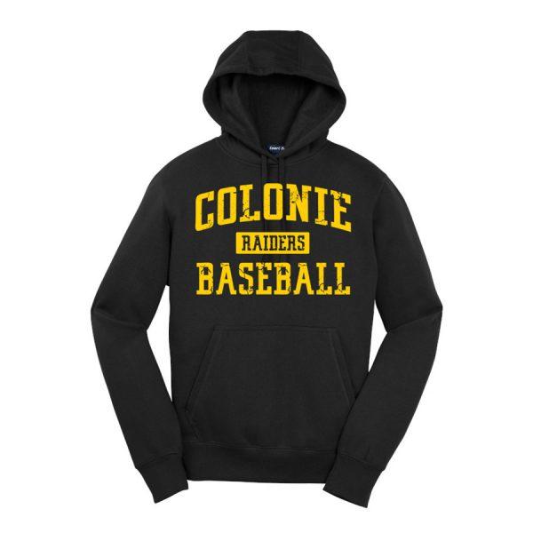 Black Colonie Raiders Baseball Sport-Tek Pullover Hooded Sweatshirt