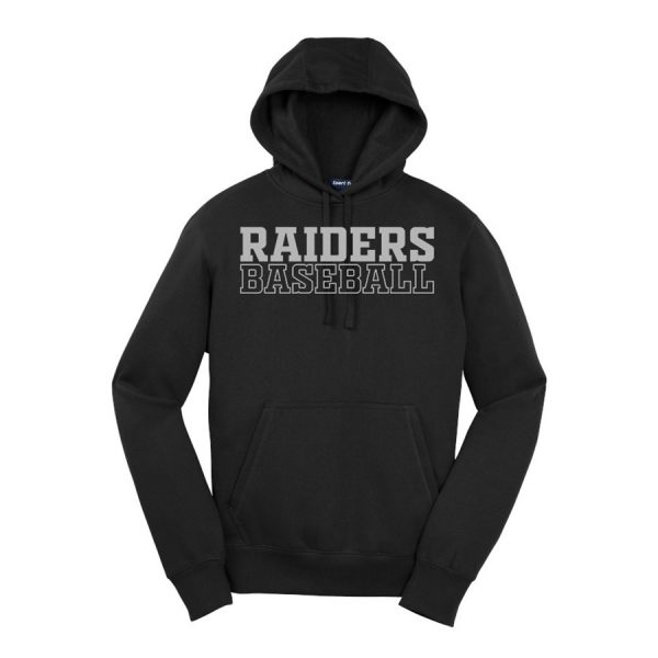 Black Raiders Baseball Sport-Tek Pullover Hooded Sweatshirt