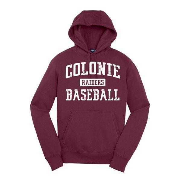 Maroon Colonie Raiders Baseball Sport-Tek Pullover Hooded Sweatshirt