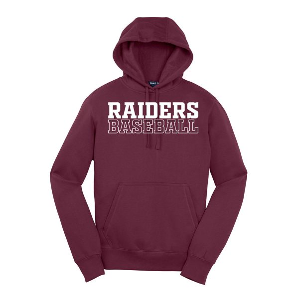 Maroon Raiders Baseball Sport-Tek Pullover Hooded Sweatshirt