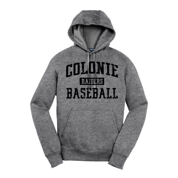 Vintage Heather Colonie Raiders Baseball Sport-Tek Pullover Hooded Sweatshirt