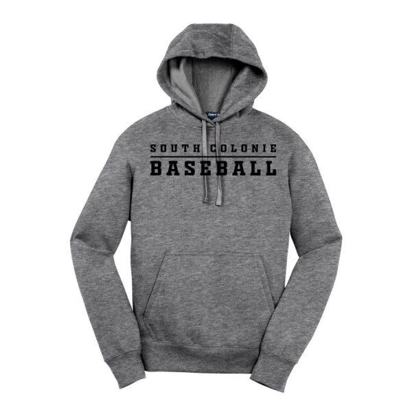 Vintage Heather South Colonie Baseball Sport-Tek Pullover Hooded Sweatshirt